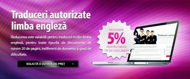 Reducere 5% traduceri autorizate